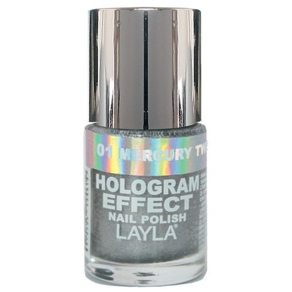 リズムに対応する下にLayla Cosmetics Hologram Effect Nail Polish Mercury Twilight 10ml