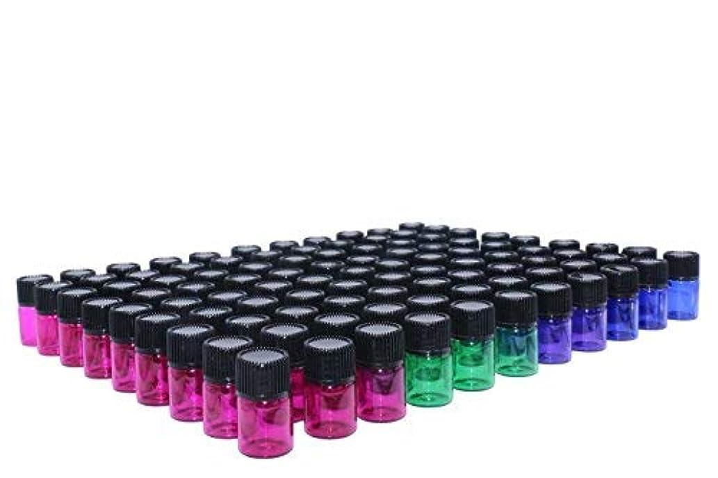 プロフィールコード消費するWresty 2 ml(5/8 dram) Essential Oil Bottle,100 Packs Blue Green Pink Purple Glass Vials with Orifice Reducers...