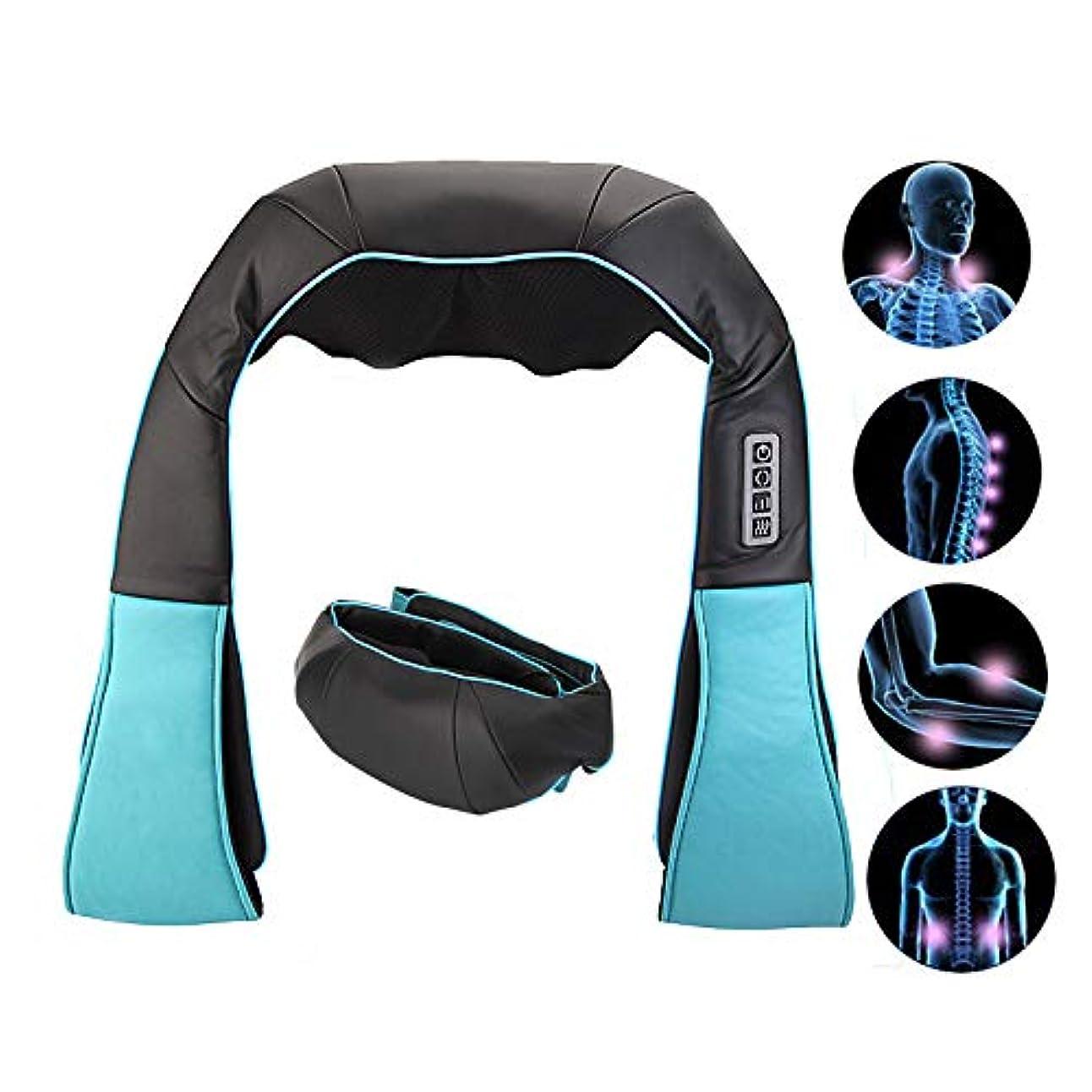 肩、脚、体の筋肉の痛みを和らげる、なだめるような熱を備えた電気指圧バックネックと肩のマッサージャー