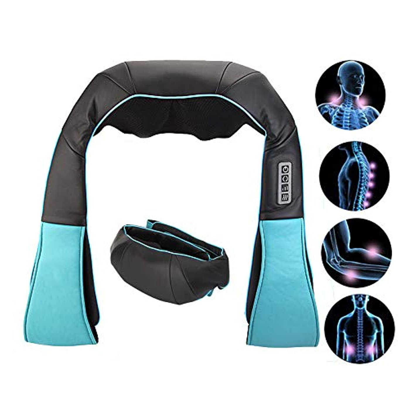 裁定辛なくつろぐ肩、脚、体の筋肉の痛みを和らげる、なだめるような熱を備えた電気指圧バックネックと肩のマッサージャー