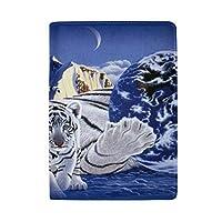 Anmumi パスポートケース パスポートカバー スキミング防止 カード入れ 虎 タイガー 動物 雪柄 かわいい オシャレ 撥水 防塵 PUレザー 革 旅行 出張
