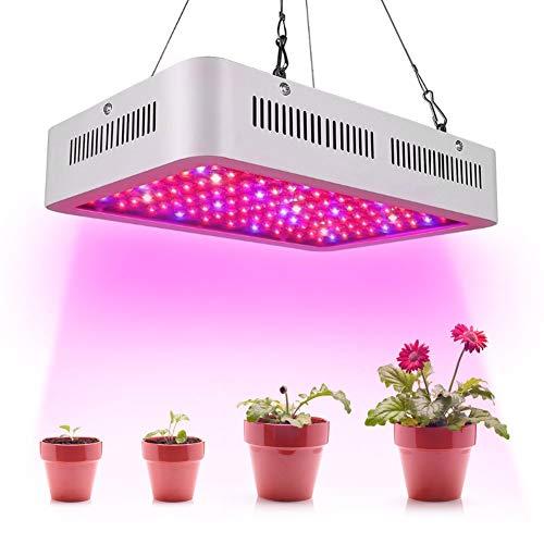 Bostar 1200W LED植物育成ライト 室内栽培ライト 日照不足解消 120PCS*10W 全光スペクトル 植物成長促進ランプ 温室/園芸/野菜工場/植物農園