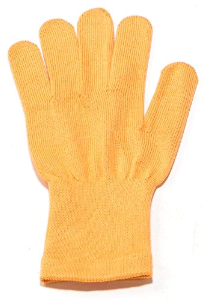 連結するゴミレンジイチーナ【ハンドケア手袋ショート】天然保湿効果配合繊維(レディース?フリーサイズ) (オレンジ)