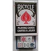 BICYCLE(バイスクル) ライダーバック 黒/ポーカーダイス(5個) セット