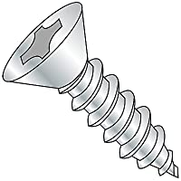 Pack of 3000 Steel Self-Drilling Screw 3//4 Length Zinc Plated Finish Small Parts 1412KPF Phillips Drive #3 Drill Point Pack of 3000 1//4-14 Thread Size 3//4 Length 1//4-14 Thread Size 82 Degree Flat Head