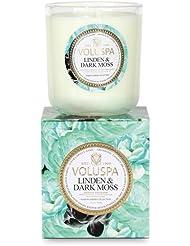 Voluspa ボルスパ メゾンジャルダン ボックス入りグラスキャンドル リンデン&ダークモス MAISON JARDIN Box Glass Candle LINDEN & DARK MOSS