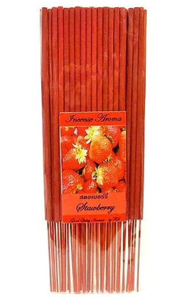 棚殺します毒性タイのお香 スティックタイプ [STRAWBERRY/ストロベリー] インセンスアロマ 約50本入りアジアン雑貨