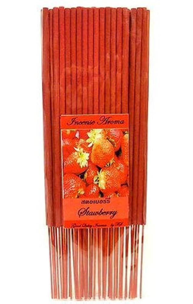 タイのお香 スティックタイプ [STRAWBERRY/ストロベリー] インセンスアロマ 約50本入りアジアン雑貨