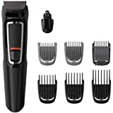 Philips Multigroom Series 3000 8-in-1 Face and Hair Cordless Trimmer with 8 Tools, Rinseable Attachments & up to 60 min Run T