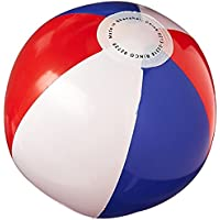 (Pack Of 24) - Rhode Island Novelty Red, White And Blue Beachball (Pack Of 24)