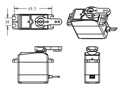 DS3218 20kg高トルク フルメタルデジタルステアリングサーボ 防水サーボ  バハのラジコン対応 (180°)