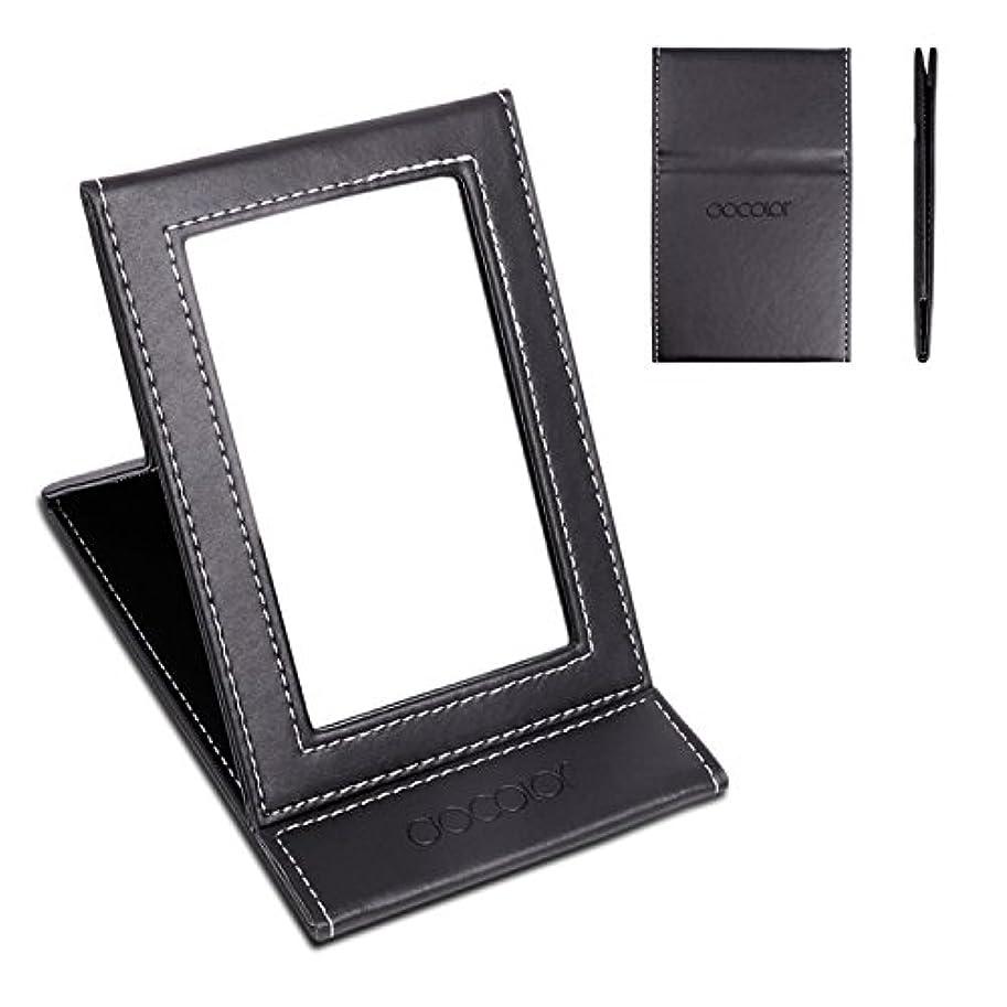 クレタ浸漬リード化粧鏡 卓上ミラー 折りたたみ式-DOCOLOR スタンドミラー 携帯用ミラー