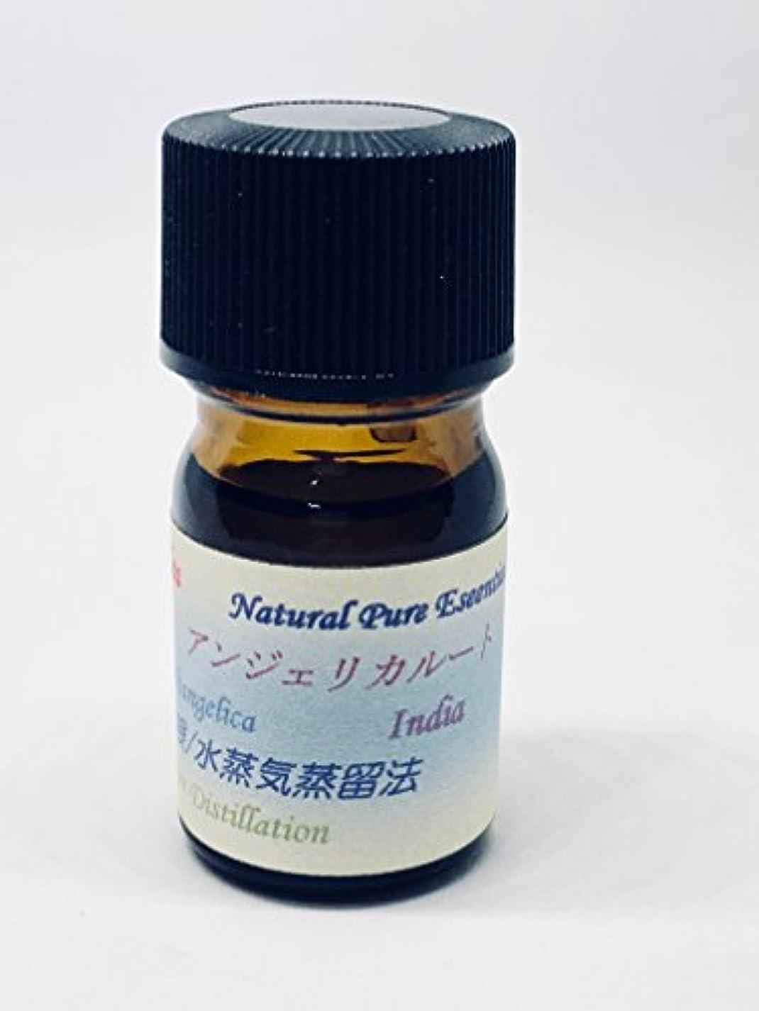 極小スリル事前アンジェリカルート精油 ピュアエッセンシャルオイル (5ml)