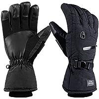 highloongメンズスキースノーボード手袋防水性とシンサレートCold winter-black