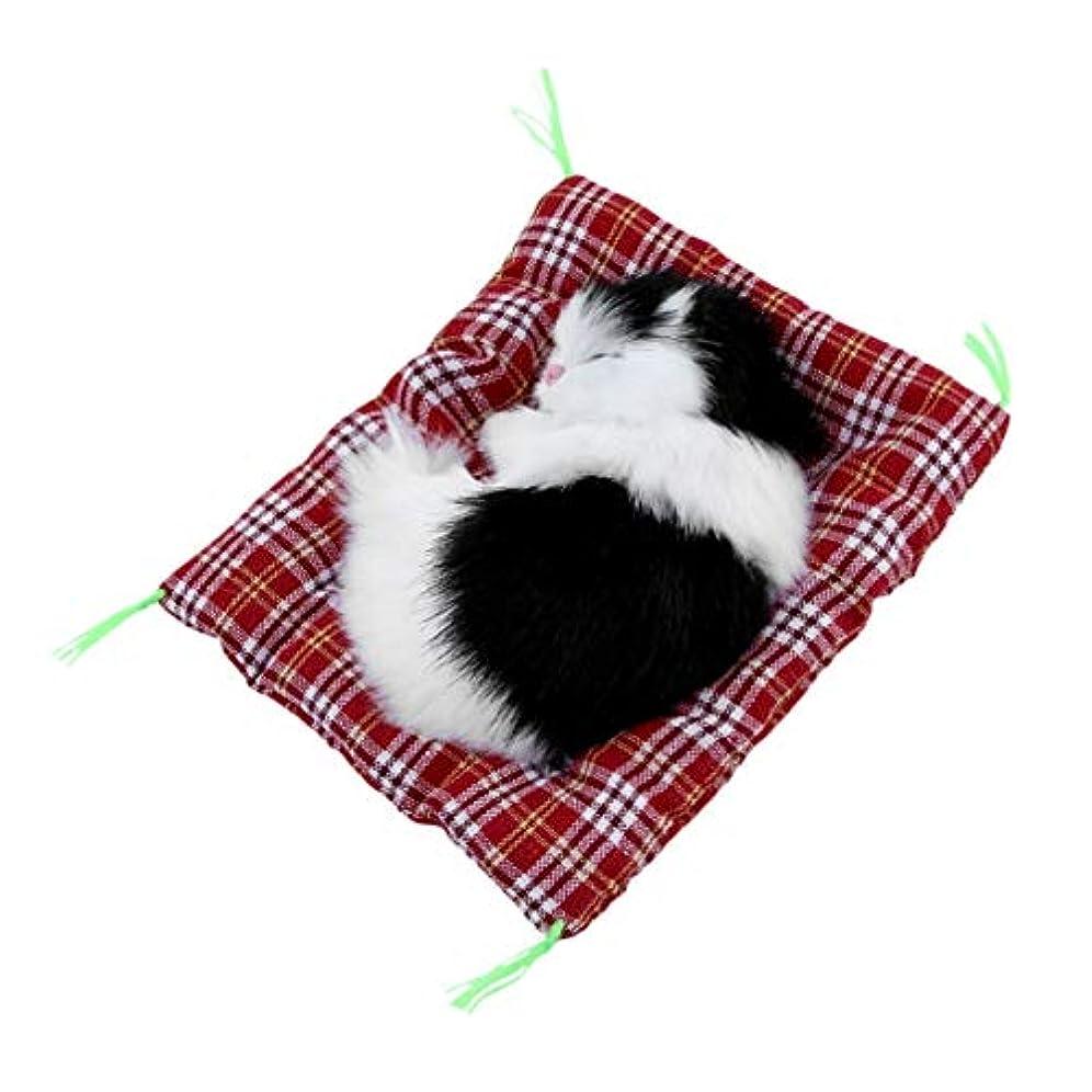 先のことを考えるクレデンシャル軌道ミニーラブリーかわいい小さなシミュレーション動物工芸人形ぬいぐるみレイジー眠っている猫とおもちゃの誕生日おめでとうぬいぐるみぬいぐるみ