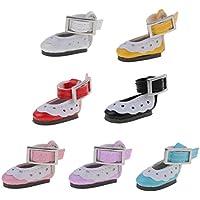 SONONIA  7ペア かわいい  アンクルストラップ PUレザー  靴  12インチ ブライスドール対応