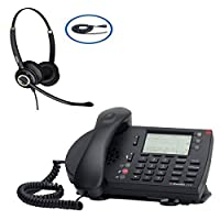 ShoreTel ShorePhone IP 230 Phone With FREE Deluxe Corded Binaural Discover Office Headset (Certified Refurbished) 【Creative Arts】 [並行輸入品]