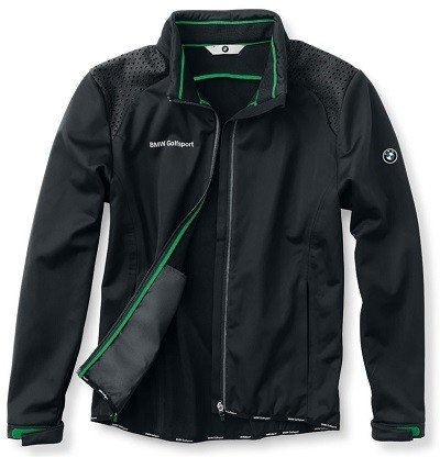 (M Medium, Black) - Genuine BMW Men's Golfsport Soft Shell Golf Jacket - Black - Size Medium