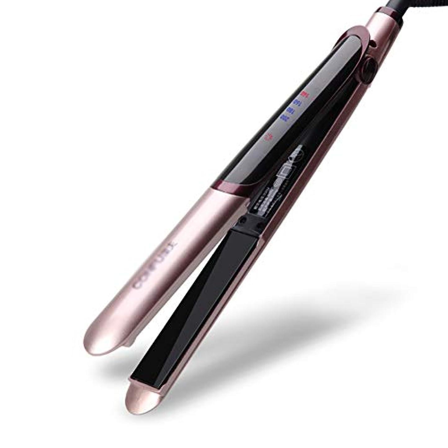模索ブリーフケース更新セラミックストレートヘアアイロンPtc加熱液晶デジタルディスプレイ、すべての髪のスタイルの調整可能なユニバーサル電圧温度
