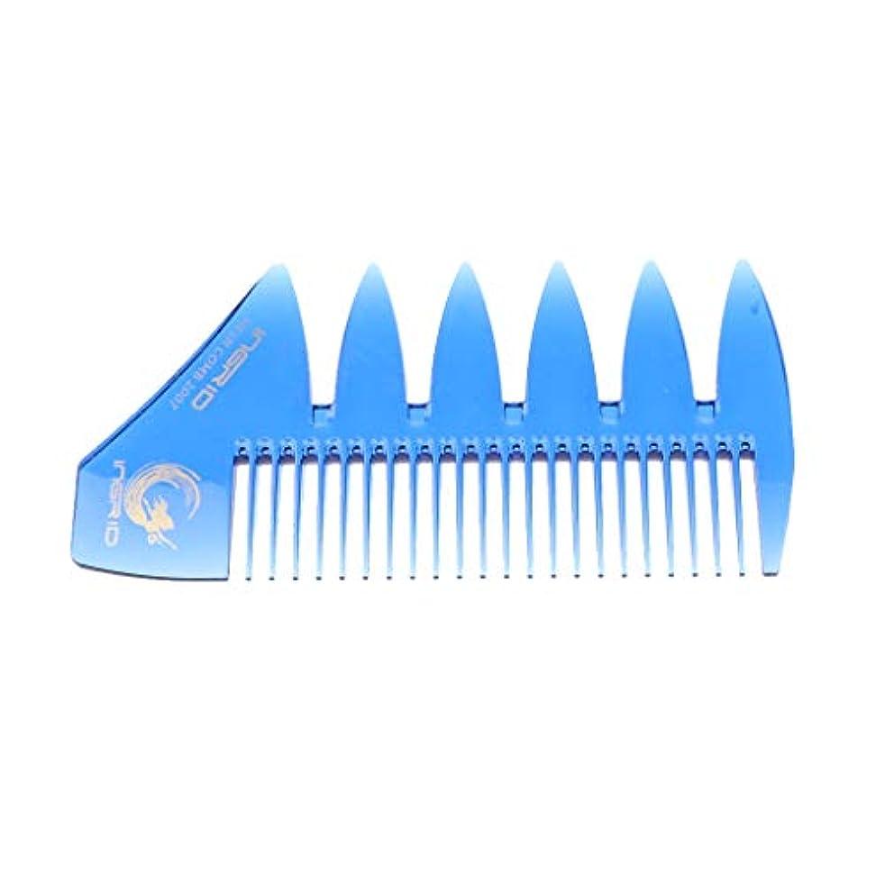 Perfeclan プラスチック製 コーム 髪 櫛 くし 携帯用 ヘアケア メンズ & レディース 全4色 - ブルー