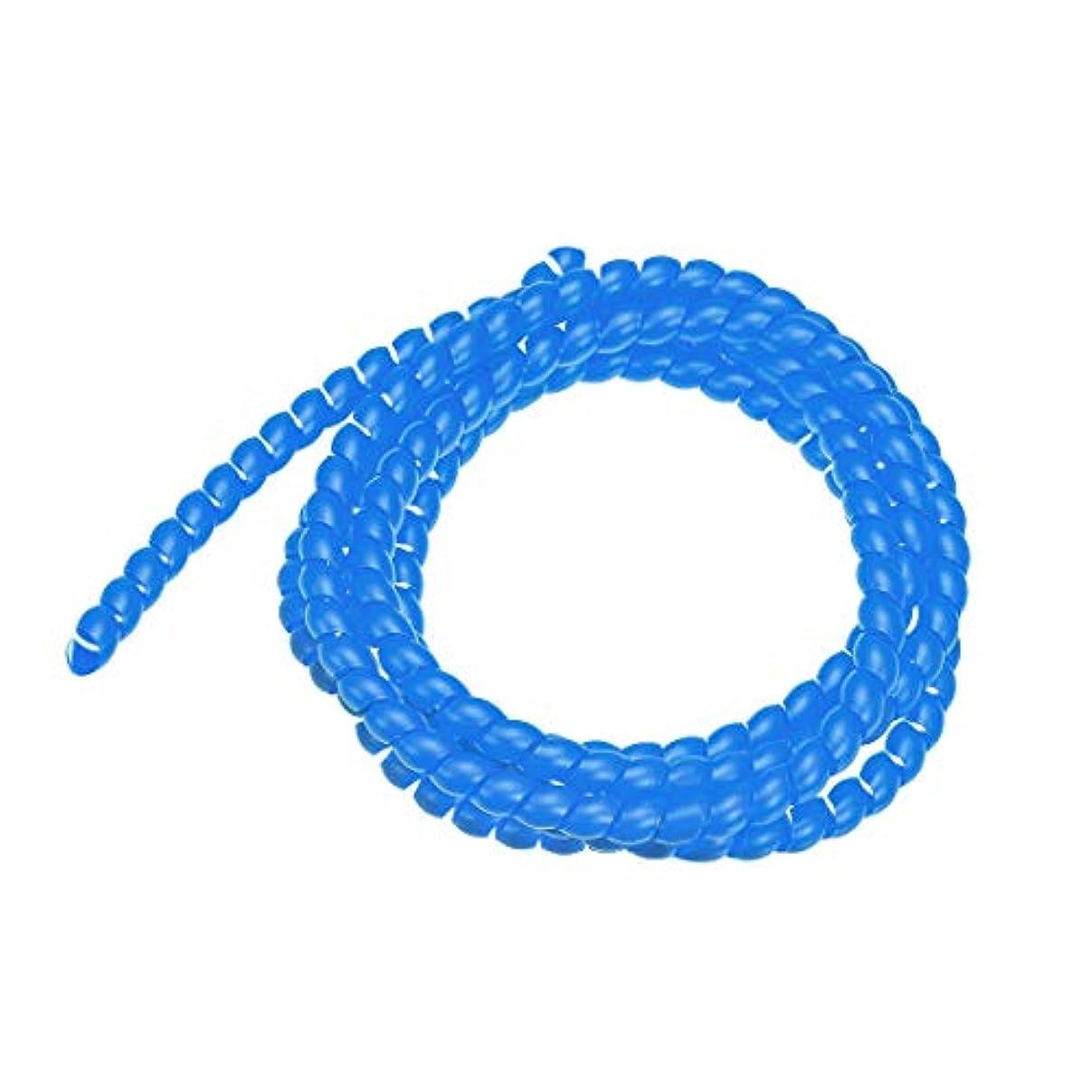 心理的ペストリーローズuxcell スパ イラルラップチューブ ポリエチレン製 ブルー 柔軟で再利用可能 8mm X 10mm 2m長さ