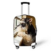 Ledback トランクカバー キャリーケースカバー かわいい シェリー 犬 伸縮素材 動物 キャリーバッグカバー おしゃれ スーツケースカバー S/M/Lサイズ トラベルアクセサリー 旅行者 キャリーカバー 洗える ラゲッジカバー 防塵