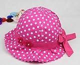 洗える 可愛い 水玉 ベビー 赤ちゃん 帽子 (タイプC)