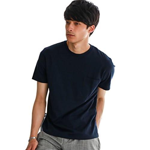 (ユナイテッドアローズ グリーンレーベル リラクシング) UNITED ARROWS green label relaxing CM ◎GIZA ポケット C/N S/S Tシャツ 32171994250 7950 NAVY(79) M