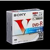 SONY DVD-R 録画用 CPRM対応 16倍速 120分 10枚パック ホワイトプリンタブル 10DMR12LCPH