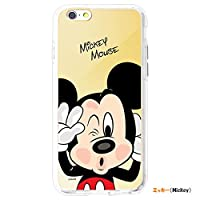 [Disney Premium Mirror Case ディズニー ミラー ゼリー バンパー] スマホケース iphone7/iphone8/iphone 7 plus/iphone 8 plus/iphone 7plus iphone8plus/アイフォン7/8 plus ケース バンパーケースミッキー ミキー ドナルド デイジ プーさん スチッチ (【iphone 7/8】, ミッキー) [並行輸入品]