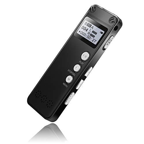 LaHuKo ボイスレコーダー ICレコーダー ノイズリダクション録音機 小型軽量MP3 高音質 大容量 超小型 8GB 長時間録音 音声検出 定時録音 V31 (18ヶ月保証&日本語説明書付き)黒