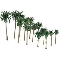 SONONIA 鉄道模型 箱庭用 ストラクチャー 鉄道 風景 椰子の木 モデル 7‐16cm 5サイズミックス 15本