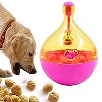 KUNPN スマートペットフィーダーペットタンブラー漏れ食品ボール犬の訓練運動楽しいボウルのおもちゃサイズ14 * 9.5センチ (色 : ピンク)