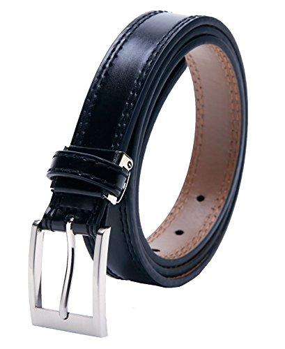 エンリコ ジリ レッド 本革 レザーベルト サイズ調整可能 メンズビジネス 黒 eg-01-a-bk