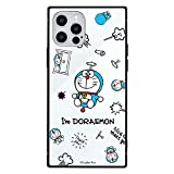 グルマンディーズ I'm Doraemon iPhone12/12 Pro(6.1インチ)対応 スクエアガラスケース 総柄 IDR-23B