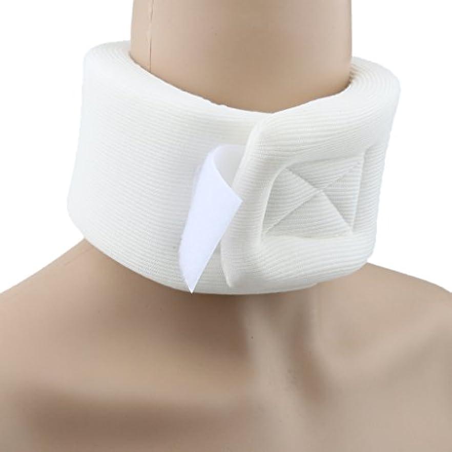 拡張透ける糸首サポーター 頸椎 ソフト頸椎カラー 首コルセット ベージュ スポンジ 男女兼用
