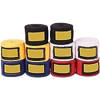 Pevor Elastic 180インチProfessional Hand Wraps forボクシングキックボクシングタイとMMA 2個のパックブルー