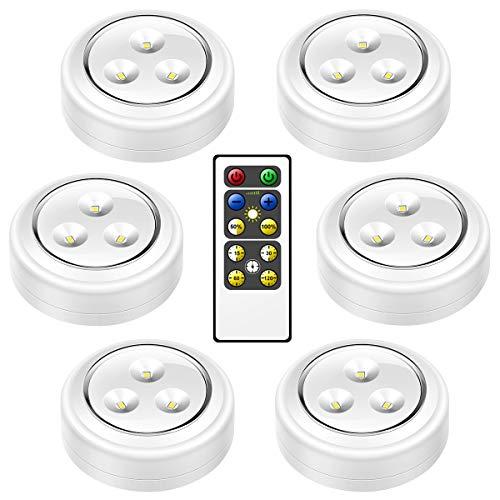 MINGER LED キャビネットライト 電池式 LEDタッ...