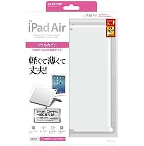 【2013年モデル】エレコム iPad Air 対応 シェルカバー スマートカバー対応 光沢クリア TB-A13PV2CR