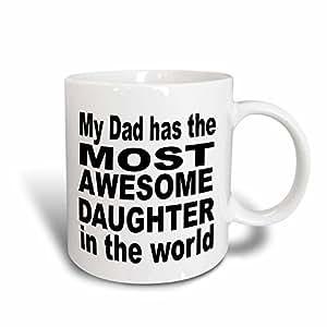 3Dローズ エバデーン - 面白い引用 - 私の父は、世界で最も素晴らしい娘をもっています。父。パパ。-マグ - 311グラム(11 オンス) マジック変身マグカップ - mug_161148_3 (並行輸入)