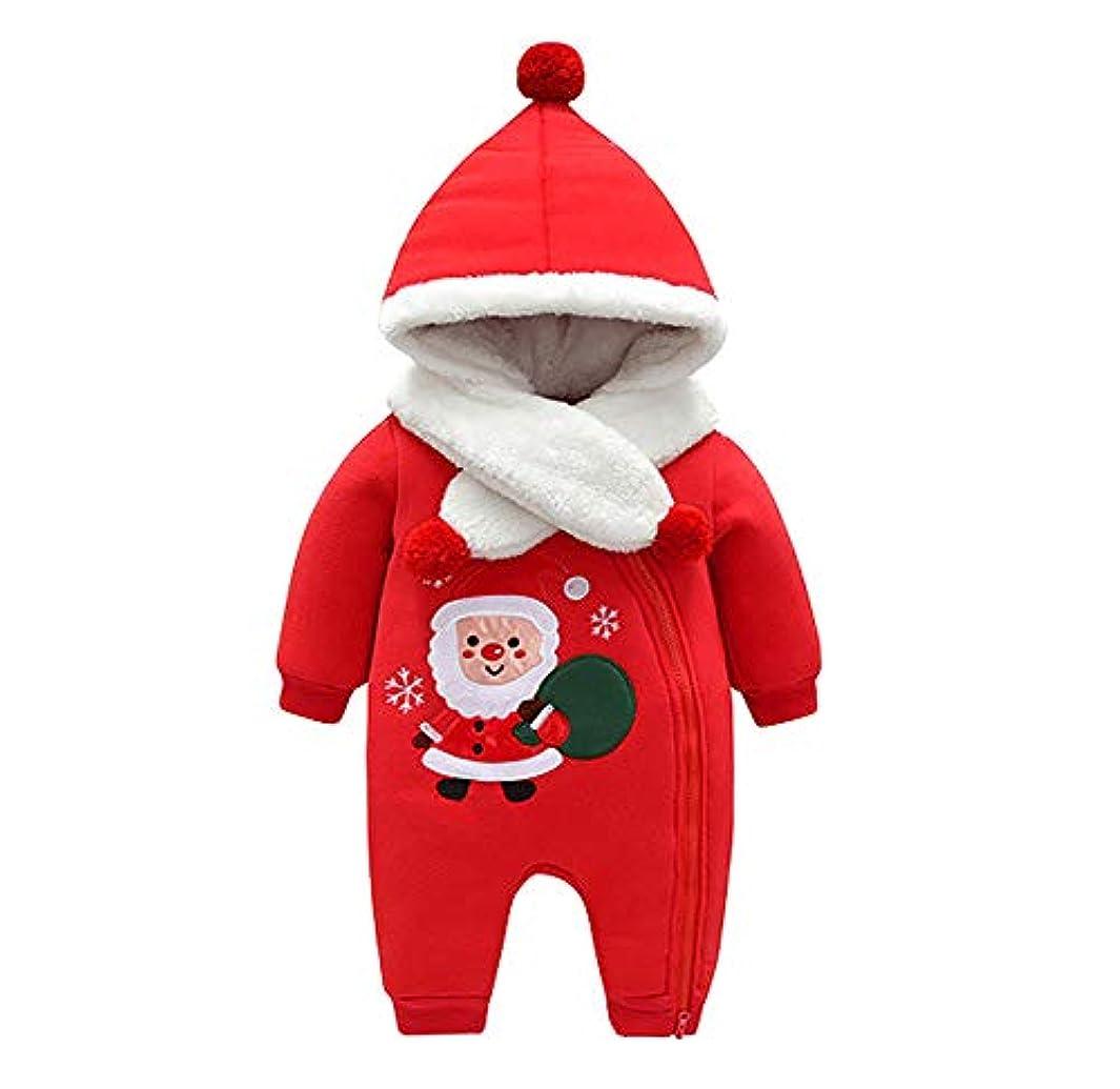 衝突する原始的な出口(ティーモイス)Timoise 赤ちゃん服 クリスマス服 コスチューム サンタクロース 帽子付き 冬 保温 フリース 可愛い プレゼント 着ぐるみ 変装 サンタ服 (66cm)