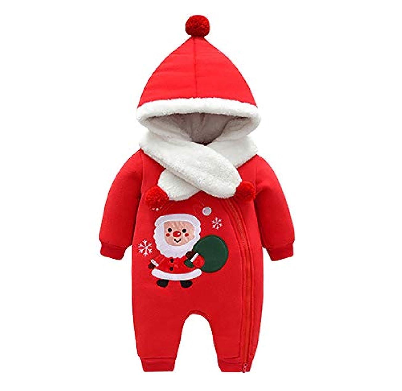 ドラッグ物理学者に賛成(ティーモイス)Timoise 赤ちゃん服 クリスマス服 コスチューム サンタクロース 帽子付き 冬 保温 フリース 可愛い プレゼント 着ぐるみ 変装 サンタ服 (66cm)