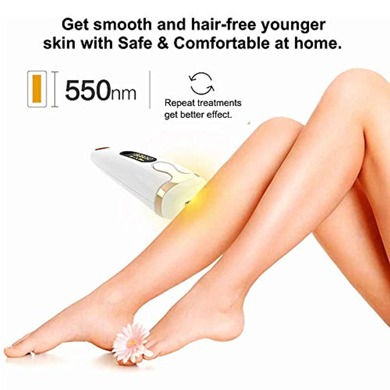 生き返らせる傾く励起女性用IPL脱毛装置システム、男性用、顔用永久脱毛機500,000回点滅痛みのない体