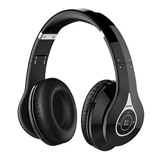 Mpow 密閉型 Bluetooth ヘッドホン 高音質 折りたたみ式 ケーブル着脱式/バランス接続対応 リモコン・マイク付き/ハンズフリー通話可能 ブラック MPBH059AD