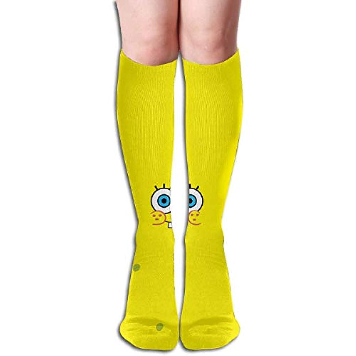 故意にナサニエル区メディックqrriyスポンジボブチューブストッキングレディース冬暖かい膝ハイソックスブーツ靴下