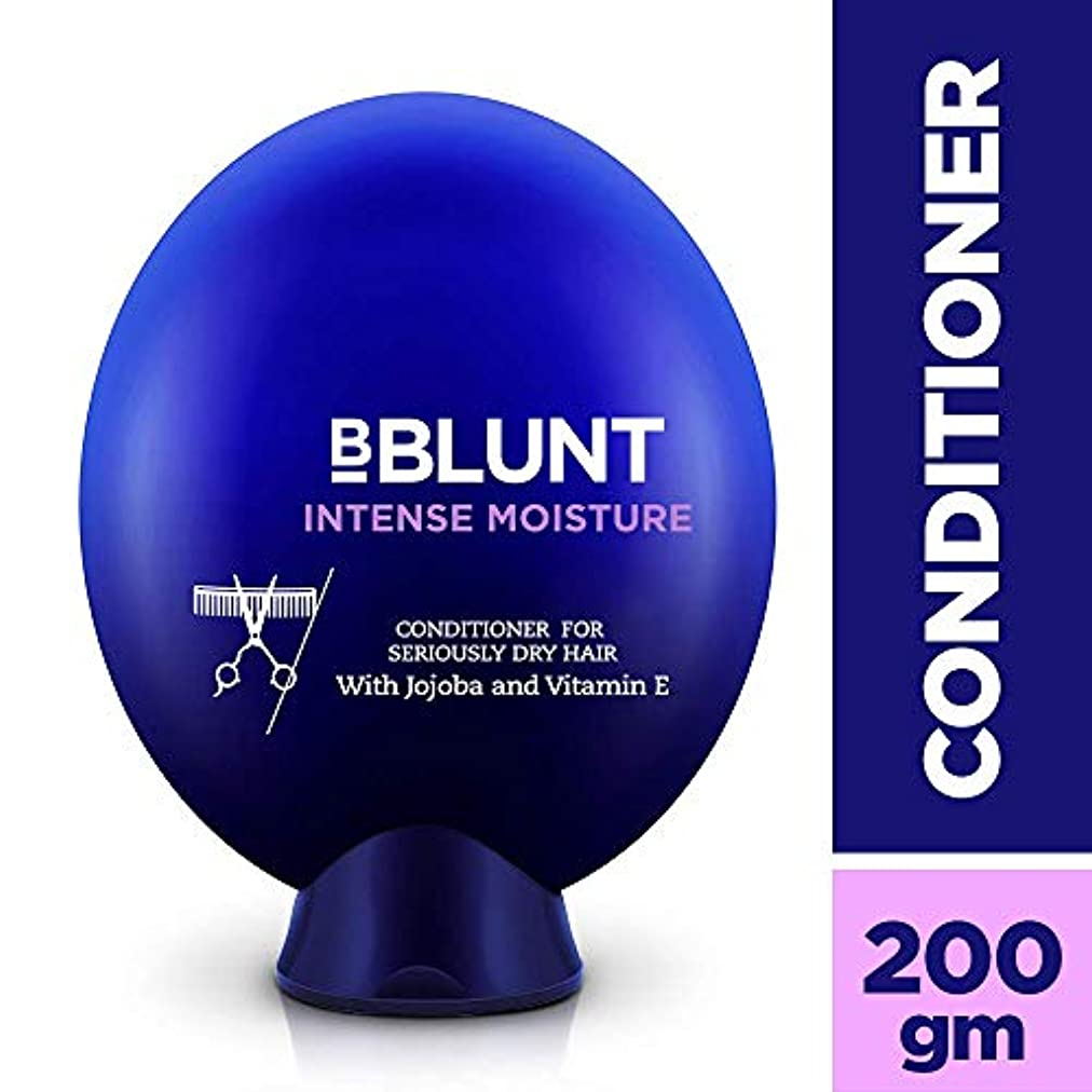 浸透する残基裁判官Bblunt Intense Moisture Conditioner, 200g (Jojoba, Vitamin E, Hydrolyzed Keratin & Wheat Germ Oil)