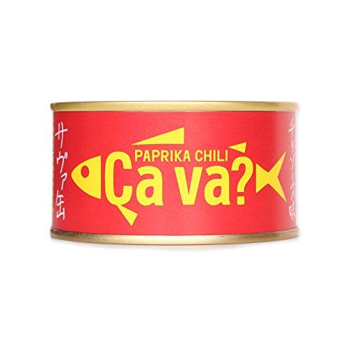 岩手県産サヴァ缶 国産サバのパプリカチリソース味 170g 缶詰 サバ缶 おつまみ