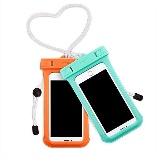 防水ケースESR 2枚セット、ESR IPX8(防水規格) 防水カバー 入れたままタッチ操作 指紋認証(iPhone 7以降の機種でロック解除可) 対応機種: iPhone X/8/8 plus 7/7plus/6s/6/6plus, Samsung, Sony, Huaweiその他6インチまでのスマートフォン