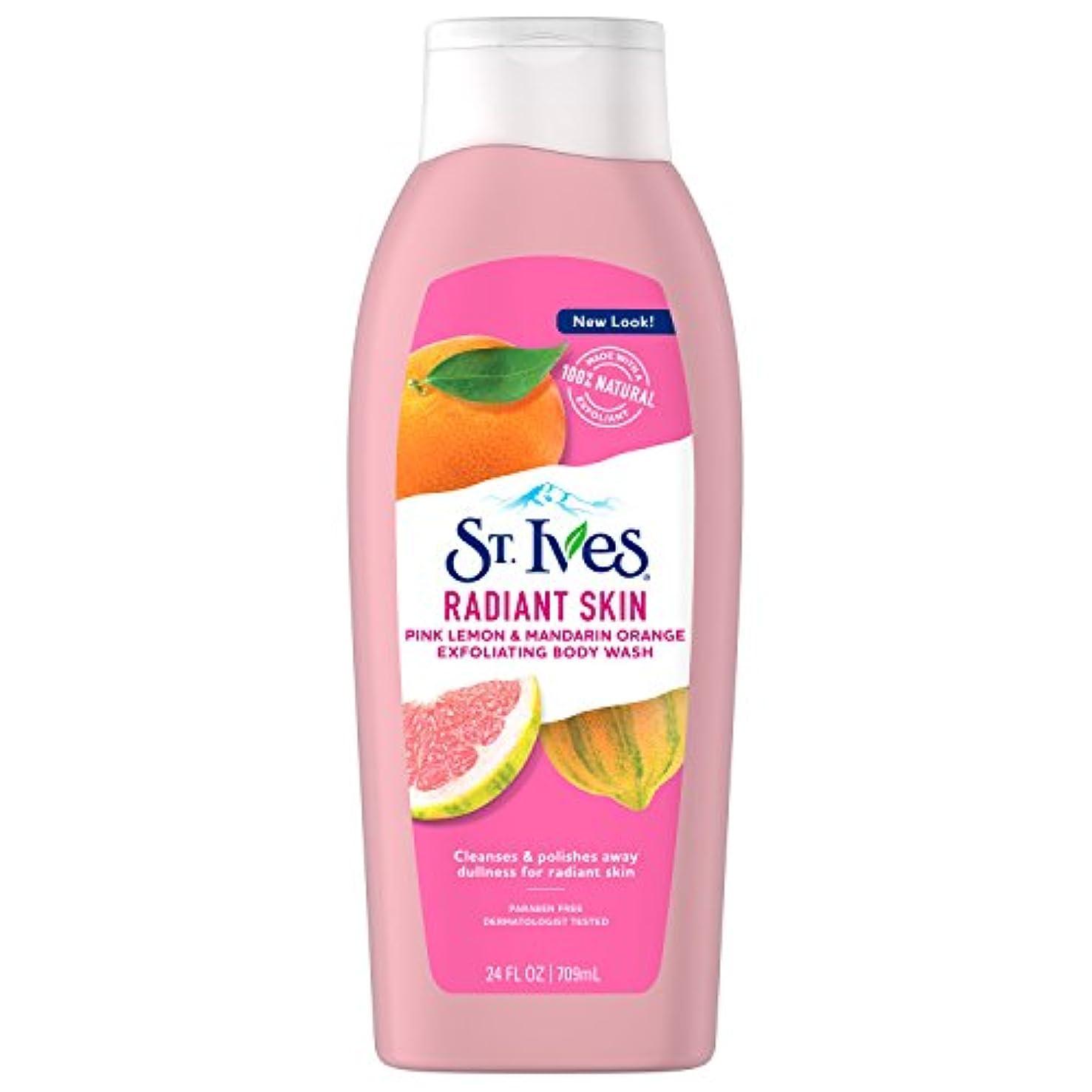 終点害学習St. Ives Even & Bright Body Wash, Pink Lemon and Mandarin Orange 24 oz by St. Ives