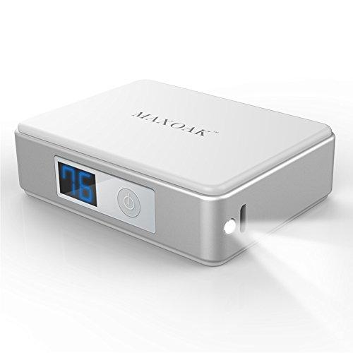 MAXOAK5200mAh超コンパクトモバイルバッテリー 急速充電可能 APPLE IPHONE 6 IPHONE 5 S 5 C 5 SAMSUNG GALAXY S 6 S 5 S4 S3 NOTE 4 3 2 TAB NEXUS他の携帯電話 タブレットに充電対応-ホワイト